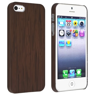 BasAcc Wood Pattern Snap-on Rubber Coated Case for Apple� iPhone 5