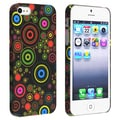 BasAcc Black/ Circle Snap-on Rubber Coated Case for Apple� iPhone 5