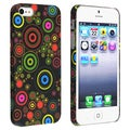 BasAcc Black/ Circle Snap-on Rubber Coated Case for Apple iPhone 5