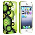 BasAcc Green/ Circle Snap-on Rubber Coated Case for Apple iPhone 5
