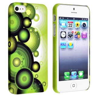 BasAcc Green/ Circle Snap-on Rubber Coated Case for Apple® iPhone 5