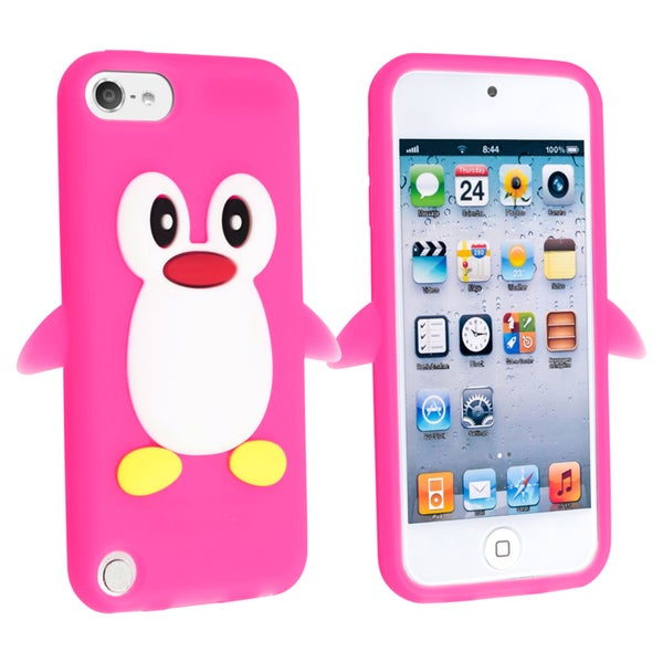BasAcc Pink Penguin Silicone Case for Apple® iPod touch Generation 5