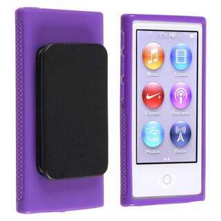 INSTEN Purple TPU iPod Case Cover/ Belt Clip for Apple iPod nano Generation 7