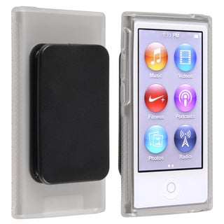 BasAcc Clear TPU Case with Belt Clip for Apple iPod nano Generation 7