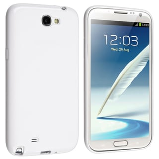 BasAcc White Pudding TPU Rubber Case for Samsung� Galaxy Note 2 N7100