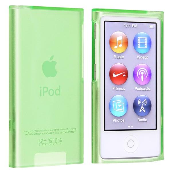 INSTEN Green TPU Rubber iPod Case Cover for Apple iPod nano Generation 7