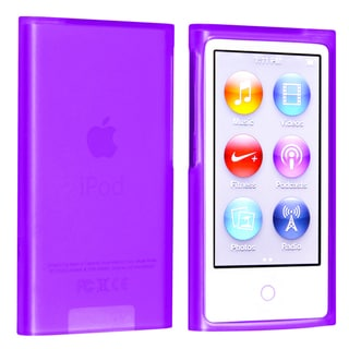 BasAcc Purple TPU Rubber Case for Apple� iPod nano Generation 7