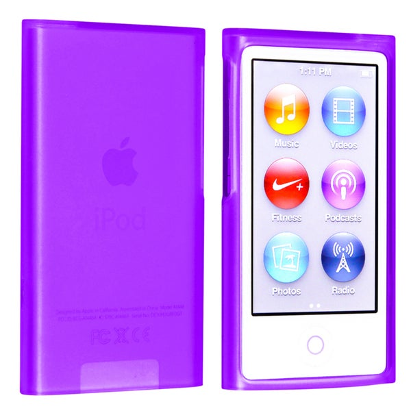 BasAcc Purple TPU Rubber Case for Apple® iPod nano Generation 7