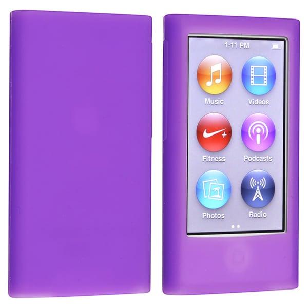 BasAcc Purple Silicone Skin Case for Apple® iPod nano Generation 7