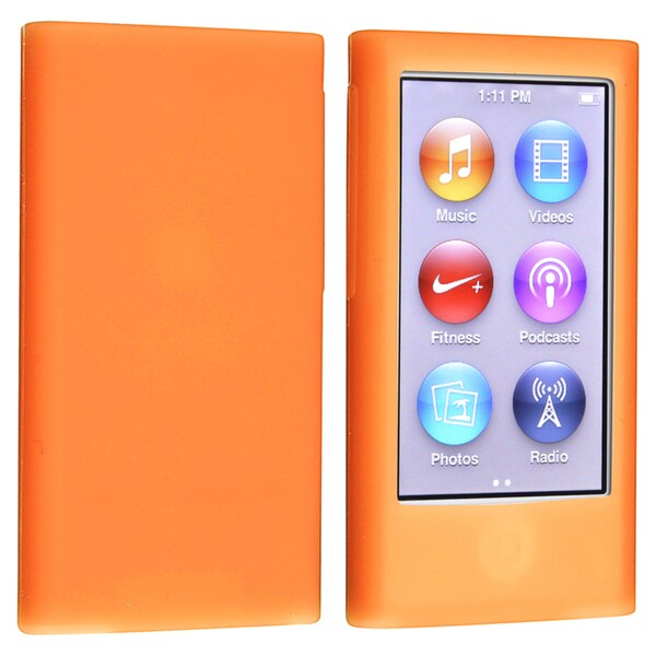BasAcc Orange Silicone Skin Case for Apple® iPod nano Generation 7