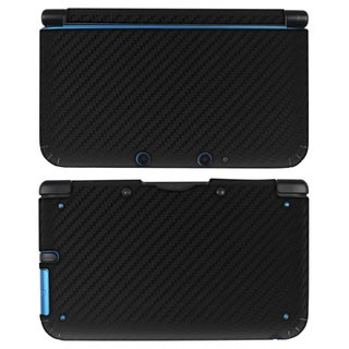 BasAcc Black Carbon Fiber Decal Sticker for Nintendo 3DS XL