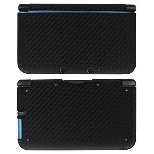 INSTEN Black Carbon Fiber Decal Sticker for Nintendo 3DS XL