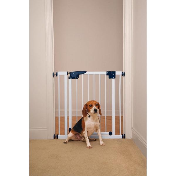 Pet Studio Pressure Mounted White Gate