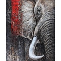 'Wild' Contemporary Hand-painted Elephant Canvas Art