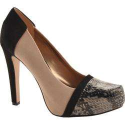 Women's BCBGeneration Perries Neutral/Black/Fawn Melange Snake/Kidskin Suede