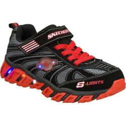 Boys' Skechers S Lights Pillar Ignus Black/Red
