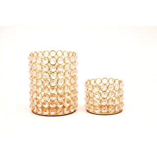 Crystal Beaded Tealights (Set of 2)
