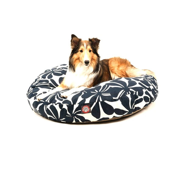 Majestic Pet Navy Blue Plantation Round Pet Bed