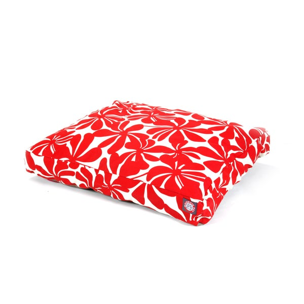 Majestic Pet Red Plantation Rectangle Pet Bed
