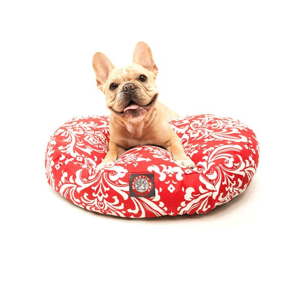 Majestic Pet Red French Quarter Round Pet Bed