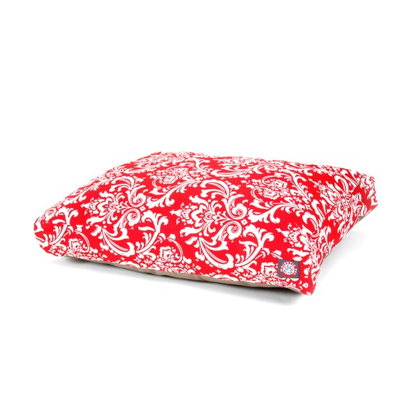 Majestic Pet Red French Quarter Rectangle Pet Bed