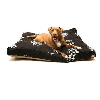 Majestic Pet Black/ Coral Rectangle Pet Bed