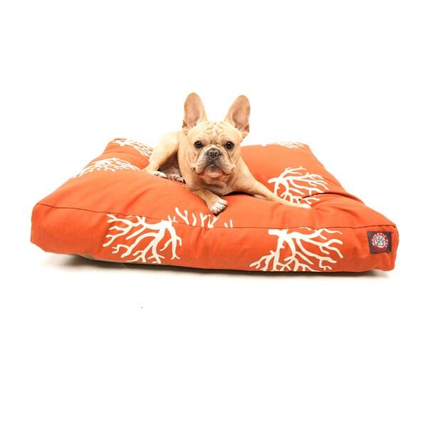 Majestic Pet Orange/ Coral Rectangle Pet Bed