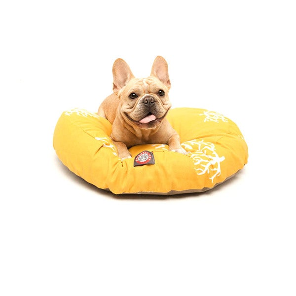 Majestic Pet Yellow Coral Round Pet Bed