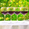 Cheers! Red Wine Glasses (Set of 4)