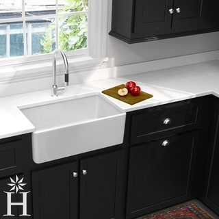 Highpoint Collection 30-inch Single Bowl Fireclay Farmhouse Kitchen Sink