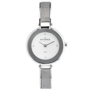 Skagen Women's Silvertone Stainless-Steel Mesh Strap Watch