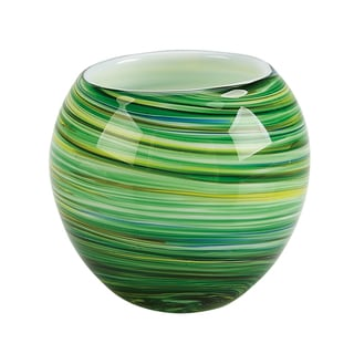 Galaxy Green Glass Votive Candle Holders (Set of 3)