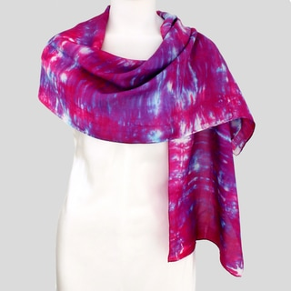 Gypsy River Riches Hand-Dyed, Washable 'Radiance' Silk Scarf
