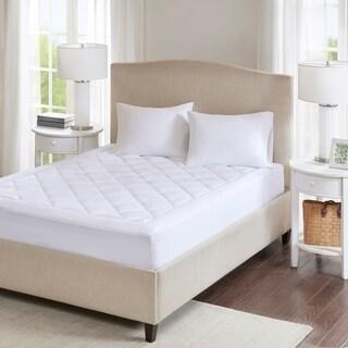 Sleep Philosophy Harmony Waterproof 3M Scotchgard Moisture Treatment Mattress Protector Pad - White