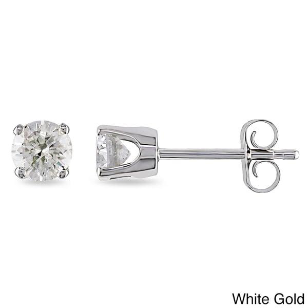 Miadora 14k Gold 1/2ct TDW Diamond Stud Earrings (I-J, I2-I3)