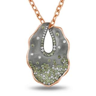 Miadora Signature Collection 14k Rose Gold 2ct TDW Diamond Necklace (G-H, SI1-SI2)