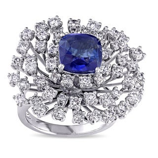 Miadora Signature Collection 14k Gold Sapphire and 2 1/4ct TDW Diamond Ring (G-H, SI1-SI2)