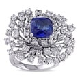 Miadora 14k Gold Sapphire and 2 1/4ct TDW Diamond Ring (G-H, SI1-SI2)