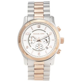 Michael Kors Women's MK8176 Two-Tone Steel 'Runway' Watch