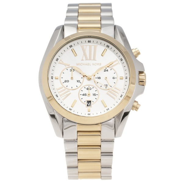 michael kors s mk5627 two tone steel bradshaw