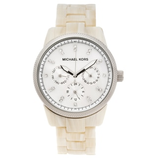Michael Kors Women's 'Ritz' Faux Horn Multifunction Watch
