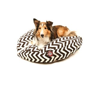 Majestic Pet Chocolate Zig-zag Round Pet Bed