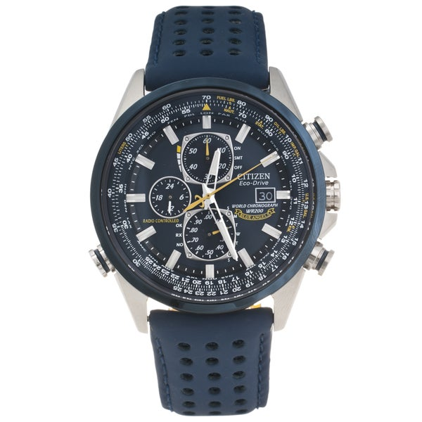 Citizen Men's Stainless Steel 'Blue Angel's' World Chronograph Watch