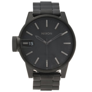 Nixon Men's Black Stainless Steel 'Chronicle' Watch