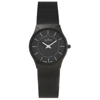 Skagen Women's' Titanium Black Slimline Mesh Watch