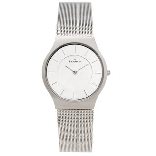 Skagen Men's Stainless Steel Analog Mesh Strap Watch