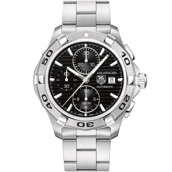 Tag Heuer Men's CAP2110.BA0833 Aquaracer Round Silvertone Bracelet Watch