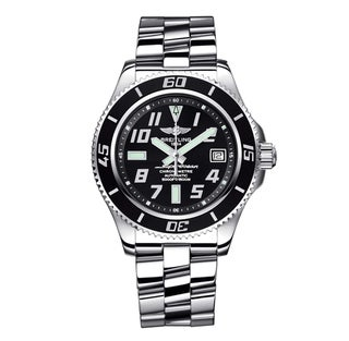 Breitling Men's Black Steel 'Superocean' Automatic Watch