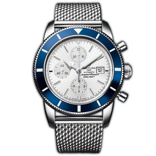 Breitling Men's Steel 'Superocean Heritage' Automatic Chronograph Watch