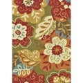 Hand-hooked Charlotte Green Rug (3'6 x 5'6)